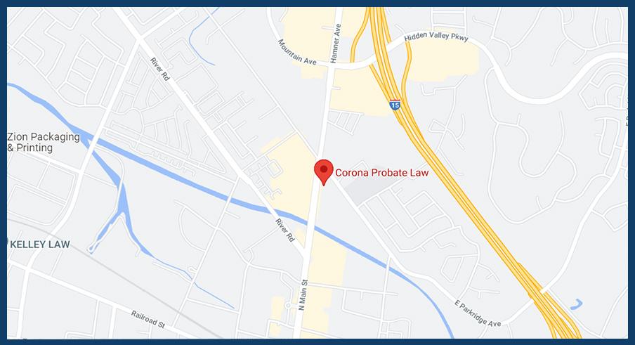 Corona Probate law Map Location